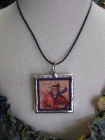Ceramic Tile Necklace Doreman Burns: All American