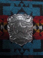 Colorado Silver Star Old West Badge: U.S. Deputy Marshal Shield Back Ordered