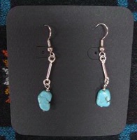 ZSold Laura Ingalls Designs: Earrings Wires Turquoise with Links SOLD