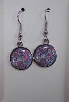 A SALE Lucy Lu Designs Bijoux Charm Earrings: Abstract Mosaic SALE