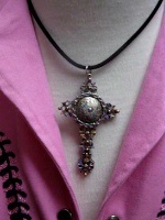 Cowgirl Heart Jewelry: Cross of Filligree on Plain Cord