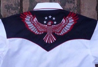 ZSold Rockmount Ranch Wear Ladies' Vintage Western Shirt: Show Your Colors w Eagle S-XL SOLD