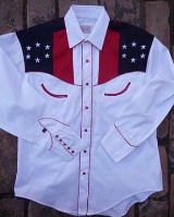 ZSold Rockmount Ranch Wear Ladies' Vintage Western Shirt: Show Your Colors w Eagle 2XL SOLD