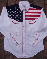 Rockmount Ranch Wear Ladies' Vintage Western Shirt: Show Your Colors Flag Shirt S-XL
