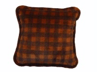 Denali® Rustic Collection: Plaid Buffalo Check Gold Taupe Pillow