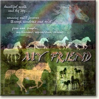 Evie Cook Digital Prints: My Friend, Horses
