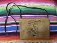 ZSold Rockmount Ranch Wear Accessory: Leather Shoulder Bag Logo Bronc Red SOLD