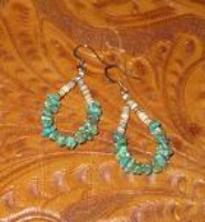 Two Grey Hills: 1 Earring Heishi and Turquoise