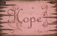 Wall Sign Faith: HOPE