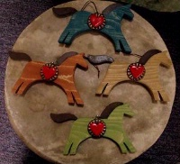 ZSold Casa Tranquila Designs: Ornament Horse Heart Southwest Style SOLD