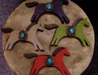 ZSold Casa Tranquila Designs: Ornament Horse Turquoise Southwest Style SOLD
