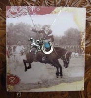 ZSold Side Saddle Necklace: Lucky Horse SOLD