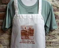 Side Saddle Butcher Apron: A Cowgirl Should Never Weigh More Than Her Horse SALE