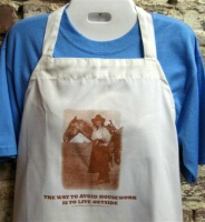 ZSold Side Saddle Butcher Apron: The Way To Avoid Housework Is To Live Outside SOLD