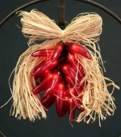 ZSold Decorative Lighting: Chili Red Pepper Ristra Small SOLD