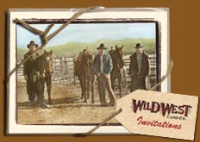 ZSold Wild West Card: Invitations The Gang's Gettin' Together SOLD