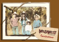 Wild West Card: Invitations Roundin' Up The Gals SALE