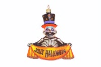 ZSold Artistry of Poland Ornament: Day of the Dead-Jolly Halloween SOLD