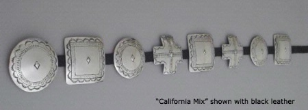 A Jules of the West Colossal Concho Belt: California Mix