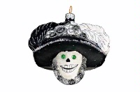Artistry of Poland Ornament: Day of the Dead - Katrina Black and White