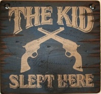 Wall Sign Home: Kids The Kid Slept Here