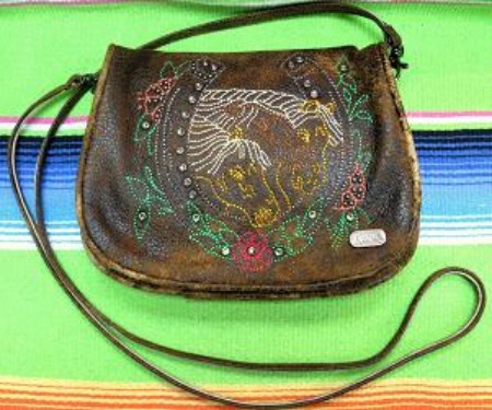 Kippys Belt Pouch Large: Horseshoe and Horses with Belt Loop