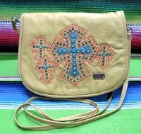 Kippys Belt Pouch Large: Cross Design with Belt Loop Palomino SALE