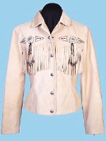 ZSold Scully Ladies' Leather Suede Jacket:Frontier Fringe Wheat M-XL SOLD