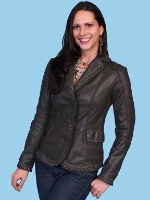 ZSold Scully Ladies' Leather Jacket: Plonge Brown XS-2XL SOLD