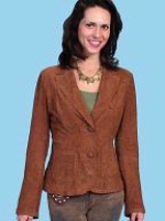 ZSold Scully Ladies' Leather Jacket: Blazer Lamb Unlined Cocoa M-L SOLD