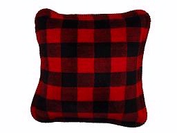 Denali® Rustic Collection: Plaid Buffalo Check Large Bunk House Red Pillow