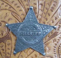 Colorado Silver Star Old West Badge: Lincoln County Sheriff