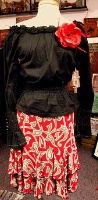 ZSold Loco Lindo: Skirt Red Scroll Twirl SOLD