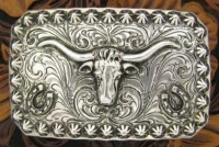 A Silver King Buckle: The Longhorn Trophy Buckle