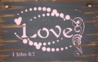 Wall Sign Faith: LOVE