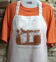 ZSold Side Saddle Butcher Apron: Feeling Lucky Cowboy? SOLD
