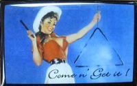 ZSold Lucy Lu Designs Slide Box Mint: Pinup Cowgirl Come 'n Get It SOLD