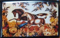 ZSold Lucy Lu Designs Slide Box Mint: Galloping Horses SOLD