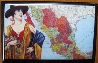 ZSold Lucy Lu Designs Slide Box Mint: Map of Mexico SOLD