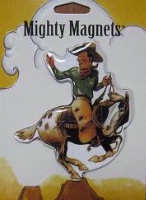 ZSold Lucy Lu Designs King Mighty Magnet: WEST Ride 'Em Cowboy SOLD