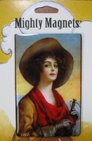ZSold Lucy Lu Designs King Mighty Magnet: WEST Vintage Cowgirl SOLD