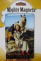 ZSold Lucy Lu Designs King Mighty Magnet: WEST Retro Cowgirl SOLD