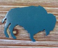 A SALE Wyoming Metalworks Magnet: Bison or Buffalo Teal SALE