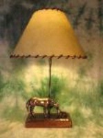 ZSold Lamp by Western Lamps: Mare and Foal SOLD