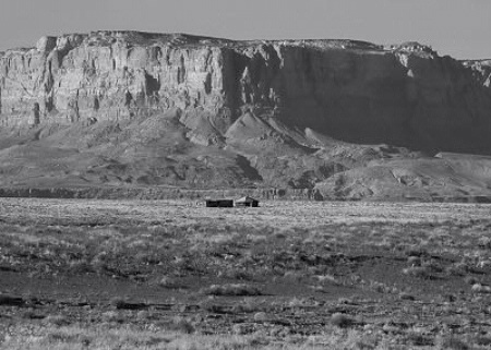 Photographer In The Lens, Bill Birkemeier: Art Print Navajo Hogan, Vermillion Cliffs B&W
