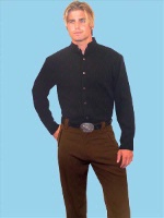 ZSold Scully Men's Dress Western Tab Pant: Solid Brown with Piping 30-42 SOLD