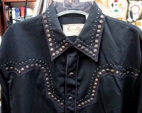 ZSold Scully Men's Vintage Western Shirt: Star Studded on Black S-2X Big/Tall 3X-4X SOLD