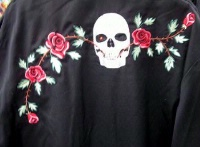 Scully Men's Vintage Western Shirt: Skulls and Roses