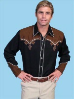 ZSold  Scully Men's Vintage Western Shirt: Overlay Classic Design L SOLD