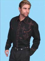 ZSold Scully Men's Vintage Western Shirt: Crosses S-2X SOLD